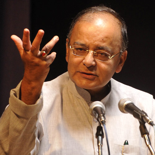 Arun Jaitley, Minister Finance - Wears a Red Coral in the Ring Finger Vedic astrology