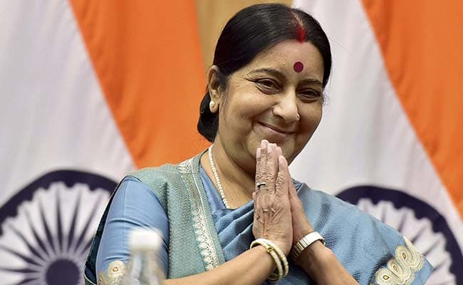 Sushma Swaraj, External Affairs Minister - Wears a Blue Sapphire in the Middle finger Vedic astrology